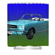 1965 Mustang Convertible Shower Curtain