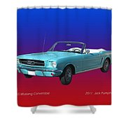 1965 Mustang Robin Eggs Blue Convertible Bath Towel For Sale By Jack