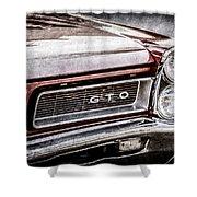 1965 Pontiac Gto Grille Emblem -0442ac Shower Curtain