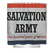 1965 Salvation Army Stamp Shower Curtain