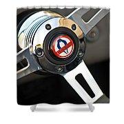 1965 Shelby Cobra 427 Steering Wheel Emblem Shower Curtain