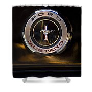 1965 Shelby Prototype Ford Mustang Emblem 2 Shower Curtain