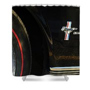 1965 Shelby Prototype Ford Mustang Emblem -0248c Shower Curtain