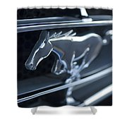 1965 Shelby Prototype Ford Mustang Grille Emblem 2 Shower Curtain