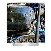 1965 Shelby Prototype Ford Mustang Paxton Engine Shower Curtain