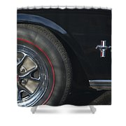 1965 Shelby Prototype Ford Mustang Wheel 2 Shower Curtain