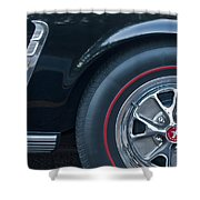 1965 Shelby Prototype Ford Mustang Wheel 3 Shower Curtain