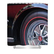 1965 Shelby Prototype Ford Mustang Wheel And Emblem Shower Curtain