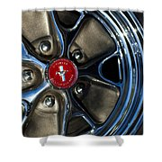 1965 Shelby Prototype Ford Mustang Wheel Shower Curtain