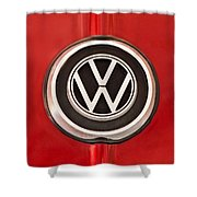 1965 Volkswagen Vw Karmann Ghia Emblem Shower Curtain