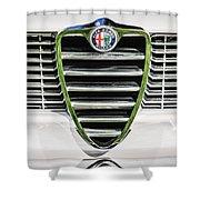 1966 Alfa Romeo Gtc Grille Emblem -1438c Shower Curtain