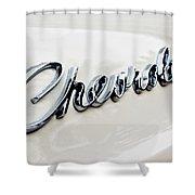 1966 Chevrolet Biscayne Emblem -0101c Shower Curtain