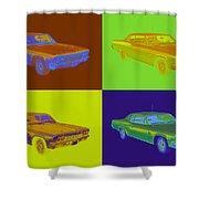 1966 Chevrolet Caprice 427 Muscle Car Pop Art Shower Curtain