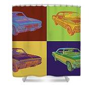 1966 Chevy Chevelle Ss 396 Car Pop Art Shower Curtain