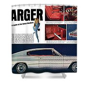 1966 Dodge Charger - New Leader Of The Dodge Rebellion Shower Curtain