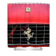 1966 Ferrari 330 Gtc Coupe Hood Emblem -0391c Shower Curtain