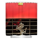 1966 Ferrari 330 Gtc Coupe Hood Ornament Shower Curtain
