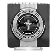 1966 Ford Mustang Shelby Gt 350 Emblem Gas Cap -0295bw Shower Curtain