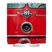 1966 International Harvester Pumping Ladder Fire Truck - 549 Ford Gas Motor Shower Curtain