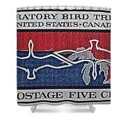 1966 Migratory Bird Treaty Stamp Shower Curtain