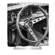 1966 Mustang Dashboard Bw Shower Curtain