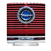 1966 Plymouth Barracuda - Cuda Grille Emblem Shower Curtain