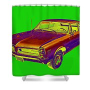 1966 Pointiac Lemans Car Pop Art Shower Curtain