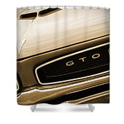 1966 Pontiac Gto In Sepia Shower Curtain
