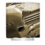 1966 Pontiac Gto Tail In Sepia Shower Curtain