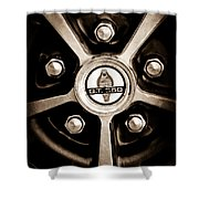 1966 Shelby Cobra Gt350 Wheel Rim Emblem Shower Curtain