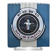 1966 Shelby Gt 350 Emblem Gas Cap Shower Curtain