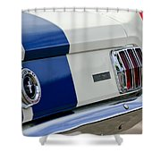 1966 Shelby Gt 350 Taillight Shower Curtain