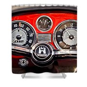 1966 Volkswagen Vw Karmann Ghia Steering Wheel Shower Curtain