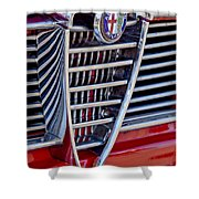 1967 Alfa Romeo Giulia Super Grille Emblem Shower Curtain