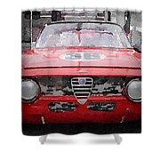 1967 Alfa Romeo Gtv Watercolor Shower Curtain