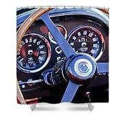 1967 Aston Martin Db6 Volante Steering Wheel 2 Shower Curtain