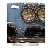 1967 Blue Corvette-front Left Shower Curtain