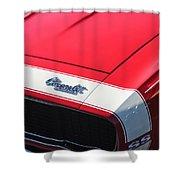 1967 Chevrolet Camaro Ss 350 Convertible Hood Emblem Shower Curtain
