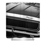 1967 Chevrolet Camaro Ss350 Convertible Grille Emblem -0704bw Shower Curtain