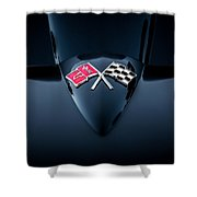1967 Chevrolet Corvette 427 435 Hp Painted  Shower Curtain