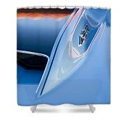 1967 Chevrolet Corvette 427 Hood Emblem 3 Shower Curtain
