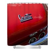 1967 Chevrolet Corvette Taillight Emblem Shower Curtain