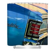 1967 Chevrolet Malibu Taillight Emblem Shower Curtain