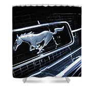 1967 Ford Mustang Gt Grille Emblem Shower Curtain