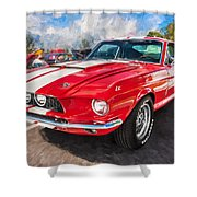 1967 Ford Shelby Mustang Gt500 Painted  Shower Curtain