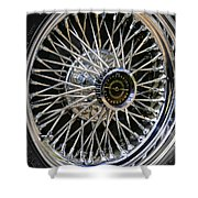 1967 Ford Thunderbird Wire Wheel Shower Curtain