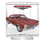 1967 G T O Pontiac Shower Curtain