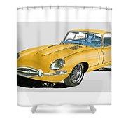 1967 Jaguar X K E Coupe Shower Curtain