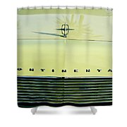 1967 Lincoln Continental Grille Emblem - Hood Ornament Shower Curtain
