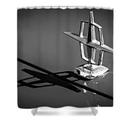 1967 Lincoln Continental Hood Ornament -1204bw Shower Curtain